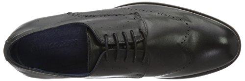 Bianco Dress Lux Shoe Exp16, Zapatos de Cordones Brogue para Hombre negro