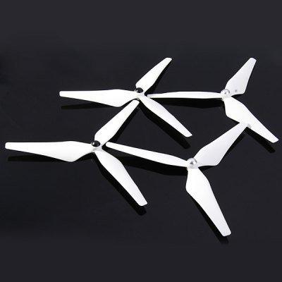 2 paires d'Hélices 3-Pales Auto-Verrouillantes 9450 pour drones DJI Phantom 1 / 2 / Vision