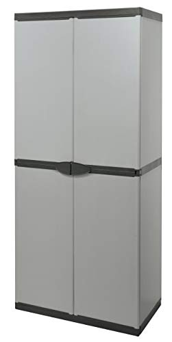 Plastic Sstore Cabinet with Broom Holder