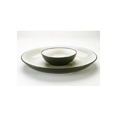 Noritake Colorwave Graphite 13-3/4-Inch Chip and Dip