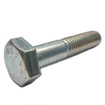 25 St/ück DIN 931 8.8 galvanisch verzinkt Sechskantschrauben mit Schaft M16x150 Abmessung