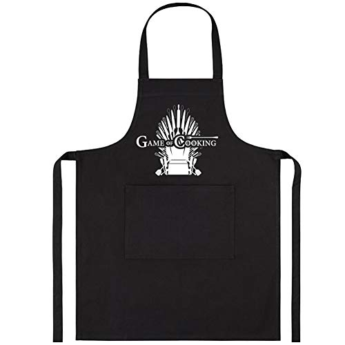 ENBOVE Chef Works Aprons for Men,Bib Aprons King for Kitchen Cooking Gardening Or BBQ Grilling,Funny Chef Apron Gift Ideas for Dad,Husband,Boyfriend,Black,One Size