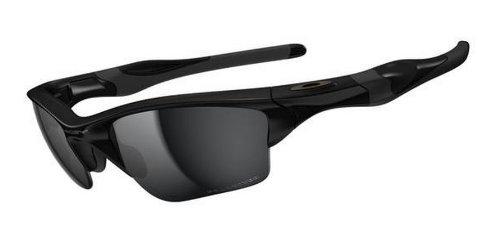 Oakley Men's OO9154 Half Jacket 2.0 XL Rectangular Sunglasses, Polished Black/Black Iridium Polarized, 62 mm (Oakley Radar Gläser)