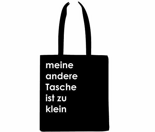 Tasche Jutebeutel Beutel Miniblings MEINE ANDERE TASCHE IST ZU KLEIN! schwz