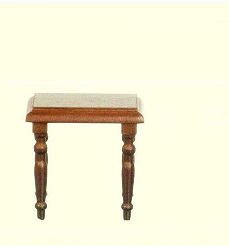 Dollhouse Lamp Table Town Square T6392 Wood Pecan Miniature