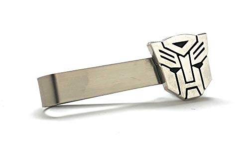 Williams and Clark Men's Executive Tie Bar Silver Transformers Autobot Show Hero Tie Bar Tie Clip