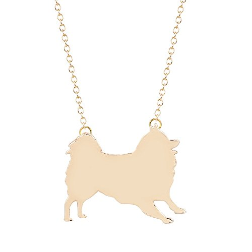 AnnaKJewels 9 different Cute Dog necklaces,, unique gift, fast shipping from USA (Gold Pomeranian) Gold Pomeranian