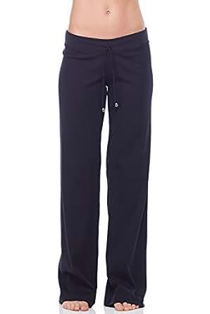 Sandra McCray Ribbed Drawstring Pant-Black-Extra Small (XS) Black