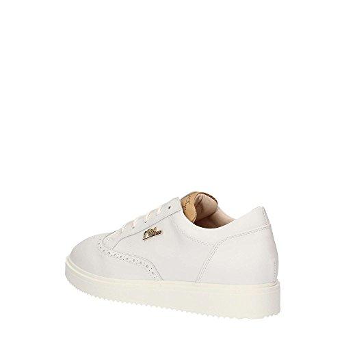 para ALVIERO Bianco MARTINI de cordones Piel Zapatos de blanco mujer xAPfx