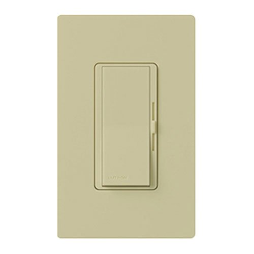 Lutron Diva C.L Dimmer Switch for Dimmable LED, Halogen and Incandescent Bulbs, with Wallplate, Single-Pole or 3-Way, DVWCL-153PH-IV, Ivory