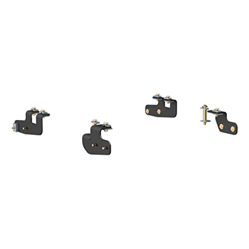 CURT 16427 5th Wheel Installation Brackets Black Select Ram 2500
