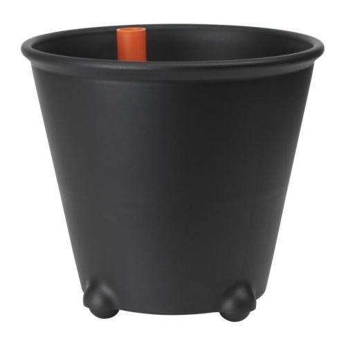 IKEA PS FEJÖ Selbstbewässerungstopf in schwarz