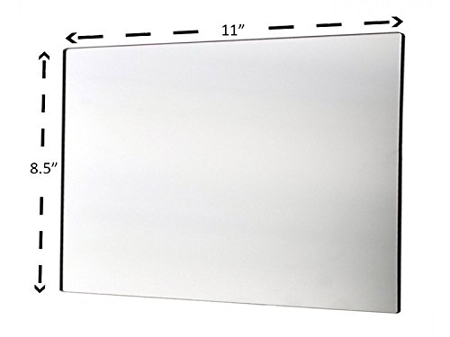 Marketing Holders Acrylic Mirror Sheet Great for Classroom Camping Fun House Premium Crystal Clear (Pack of 1) 8.5'' x 11'' by Marketing Holders