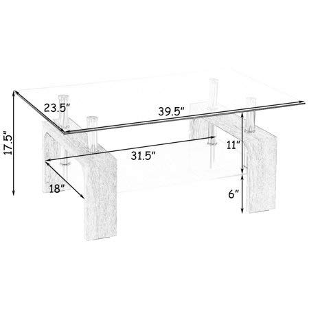 Coffee Table Drawing In Mecor Modern Rectangle u0026 Clear Glass Chrome Living Room Coffee Table With Lower Shelf Amazoncouk Kitchen Home