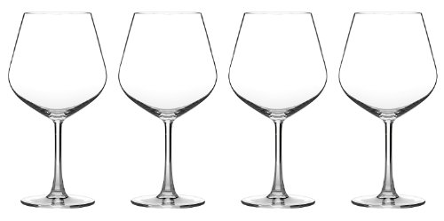 Cuisinart CG-02-S4BU Advantage Glassware Essentials Collection Burgundy Glasses, Set of 4 (Glass Wine Collection)