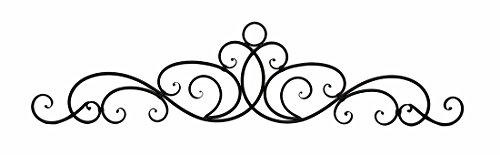 (Zeckos Antique Bronze Finish Scroll Wall Hanging Door Pediment)