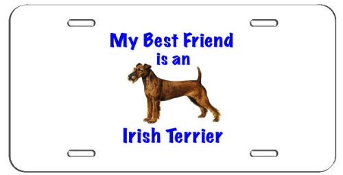 Irish Water Terrier (My Best Friend is Irish Terrier License Plate - Great for Garage Wall Decoration or for Vehicle)