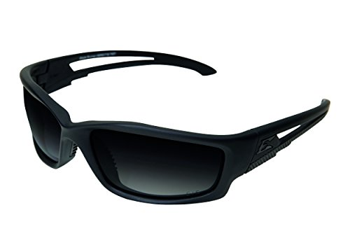Edgeware adultes Edge Tactical Safety Eyewear, Blade Runner, noir mat, revêtement Verres Polaris ierend, dégradé GRADIENT Smoke Lunettes de protection, Multicolore, Taille unique