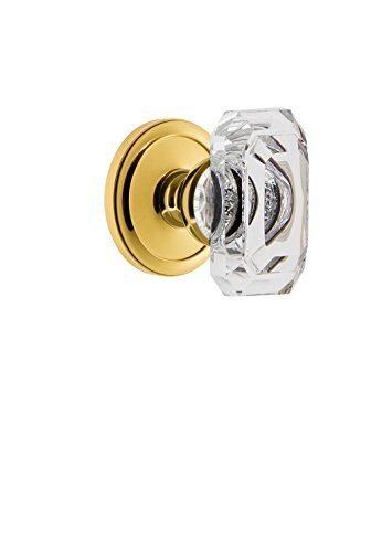 Grandeur 827794 Circulaire Rosette Passage with Baguette Crystal Knob In Polished Brass,, Passage - ()