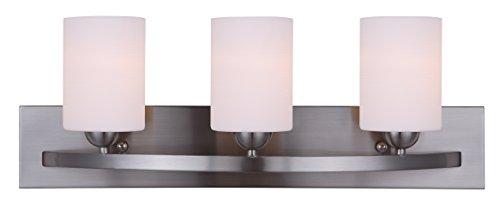 CANARM LTD. IVL370A03BPT Hampton 3 Bulb Vanity Light, Brushed Pewter