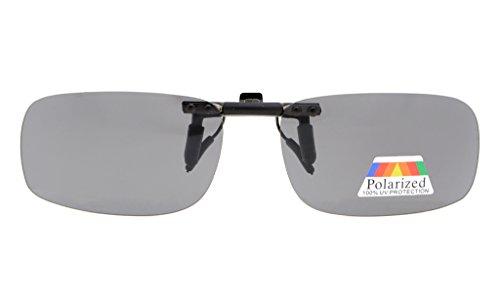 Eyekepper Lot de 2 sur-lunette de soleil Polarisee 53x33 MM 2pcs-Grey Lens