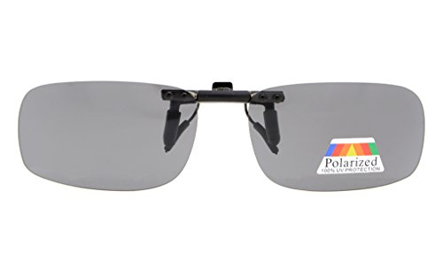 con Gafas sol Gris de up gafas metal 2pcs lentes Clip de clip de 2 MM Eyekepper 53x33 Pack Polarized Flip qEwXIHwR