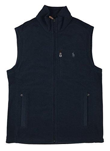 RALPH LAUREN Polo Mens Pony Logo 3-Pocket Fleece Vest Jacket (Large  Aviator - Pony Polo Vest For Men Big