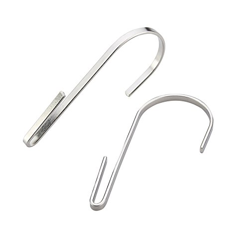 Stainless steel pot rack hanging hook set of 10 heavy for Kitchen s hooks for pots and pans