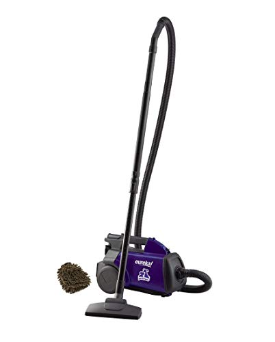 Eureka 3684F Bagged Mighty Mite Canister Vacuum Cleaner, Pet, Violet (Complete Set) w/Bonus: Premium Microfiber Cleaner Bundle