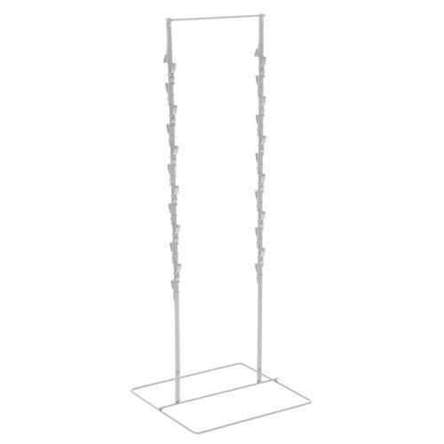te Wire 2 Strand Countertop Clip Rack 24 Clips - 9 1/2