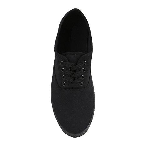 Schwarz Low Übergrößen Herren Flandell Unisex Damen Black Sneaker Stiefelparadies q0awIg