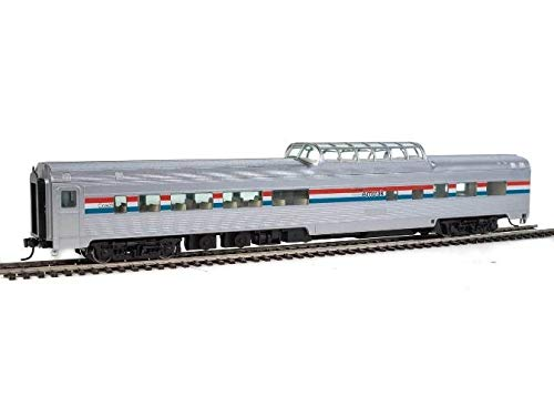 Walthers HO Scale 85' Budd Dome Coach Amtrak/Phase III (Red/White/Blue)