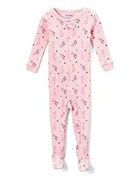 Elowel Baby Girls Footed Little Ballerina Pajama Sleeper 100% Cotton(Size 6M-5Years)
