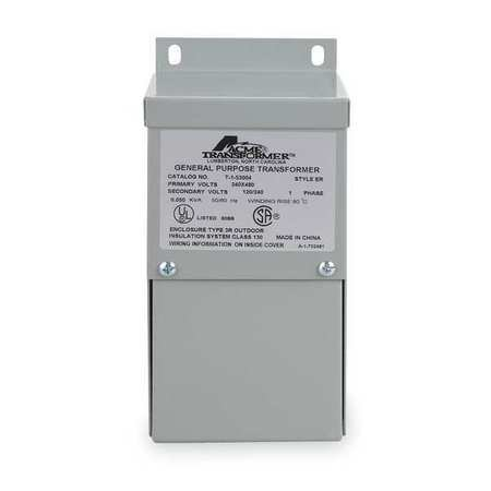 Hubbell Acme Electric T279741S Low Voltage Distribution Transformer, Single Phase, 120/208/240/277 Primary Volts - 120/240 Secondary Volts, 1.5 kVA by Hubbell