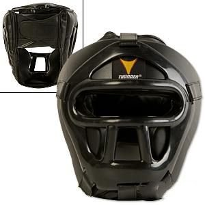ProForce 1 Thunder Black Vinyl B0086OJZXU Head Guard w/ Shield Face Shield Large/X-Large 1 packs B0086OJZXU, 【送料関税無料】:a23174a3 --- capela.dominiotemporario.com