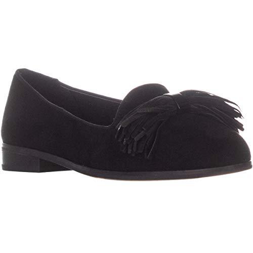 Anne Klein Women's Dixie Loafer Flat, Black, 8 M US