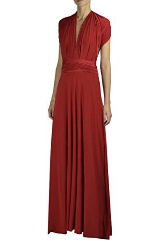 Von Vonni Infinity/Transformer/Convertible Maxi Dress ,Dark-Red, One Size Fits USA 2-10 ()