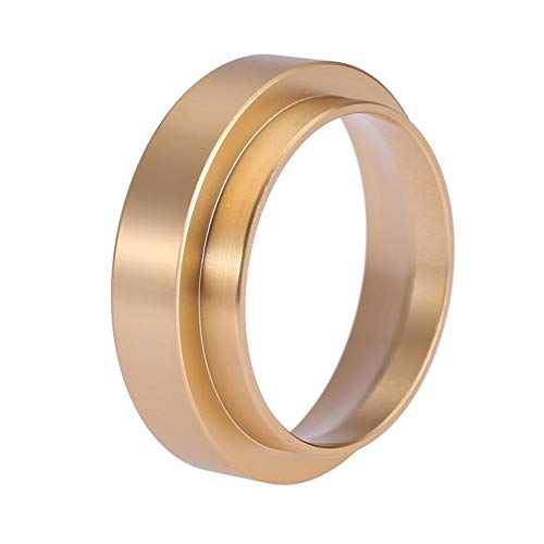 Espresso Dosing Funnel Aluminum Coffee Dosing Ring Replacement-for 58mm Portafilters ((Gold))