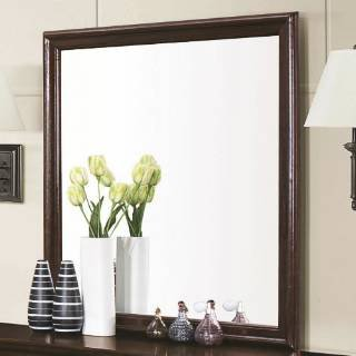 Coaster Home Furnishings 202414 Traditional Mirror, - Dresser Mirror Cappuccino