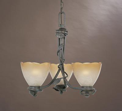 (Designers Fountain 95683-OB Timberline 3-Light Chandelier, Old Bronze)