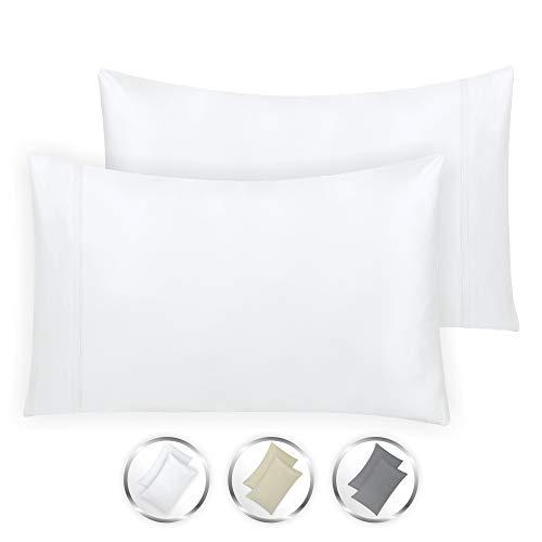 California Design Den Hotel Style True Luxury 100% Cotton 1000-Thread-Count King Size Solid Pure White (21