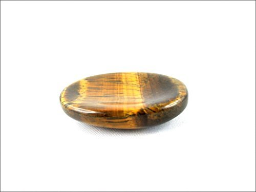 (Jet Tiger Eye Worry Stone Irish Carved India Handcrafted A++ Crystal Free Pouch Booklet Palm Thumb Stress Relief 40 Page Jet International Crystal Therapy Booklet)