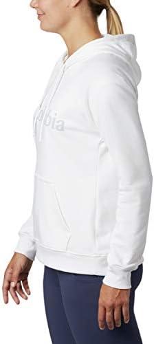 Columbia Damen Kapuzenpullover, Logo, French Terry, Weiß, Größe XS