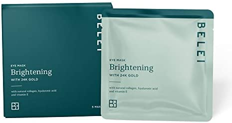 Amazon Brand - Belei - Brightening Eye Mask with 24k Gold, Pack of 5