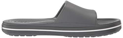 slate white Grigio Crocband Slide Iii Unisex Punta U Adulto Crocs 07i A Sandali Grey Aperta TwPqO