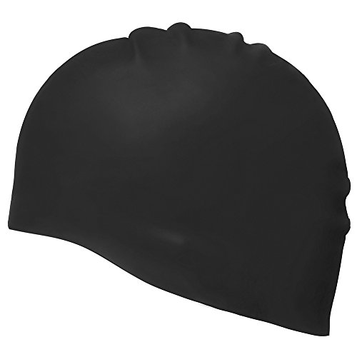 UKEE Silicone Swimming Cap 3D Silicone Design, Odorless, Non-Toxic, Silicone Elastic and Durable Swimming Cap For Adults and Men and Adults - Keep Hair Clean and Dry