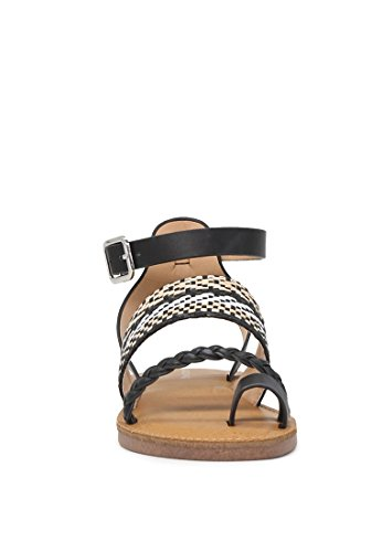 Women's Sandals Ankle Rag Black Strap London Multi Flat gP8q5Xw