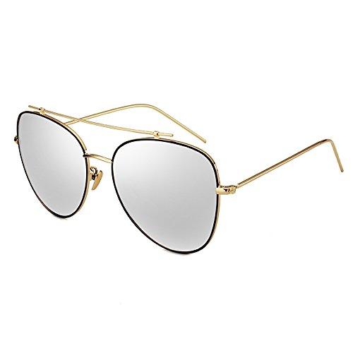 SSSX Color Gafas de de Gafas de Aviator C de hombres para sol polarizadas montura con sol D Gafas sol Gafas de conducción sol metálica r1rqw