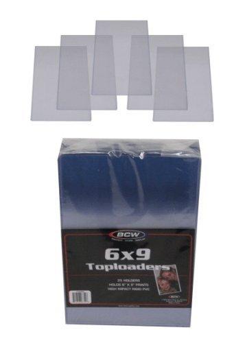 (10) 6 x 9 Topload Halterungen – festem Kunststoff Ärmeln BCW BCW Bunte Marke von Halter