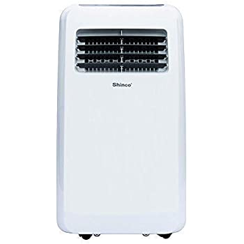 Shinco SPF2 8,000 BTU Portable Air Conditioners with Built-in Dehumidifier Function, Fan Mode, Quiet AC Unit Cools Rooms to 200 sq.ft, LED Display, Remote Control, Complete Window Mount Exhaust Kit